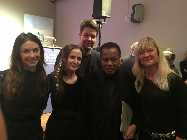 With Lisa Långbacka, Andreas Utnem, Wayne Shorter and Lena Willemark. After Schock-prize ceremony in Stockholm 2107.